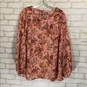 Loft floral print sheer blouse size 18